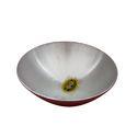 Red Aluminium Round Bowl