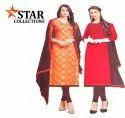 Assorted Regular Wear Ladies Chanderi And Khadi Silk Suit Material