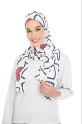 Floral Printed Cap Style Instant Stitched Scarf Hijab For Women