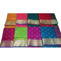 Silk Embroidered Saree With Blouse Piece, Length: 5.5 M