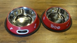Pet Bowl With Seperate Food & Water Bowls