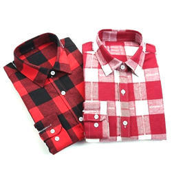 Multicolor Cotton Ladies Shirt
