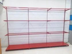Display rack Wall side glass