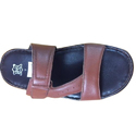 Mens Leather Chappal, Packaging Type: Box