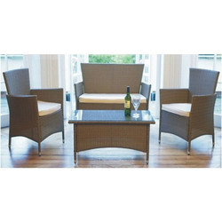 Wicker Patio Sofa Set