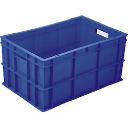 Blue Industrial Plastic Crate
