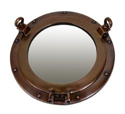 Solid Brass Antique Finish Marine Porthole