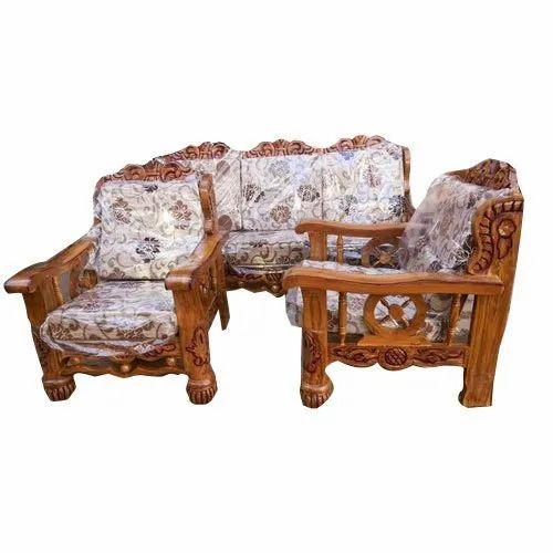 37e7bc66c4 Teak Wood Sofa Set, Sofa Set - V K Wood Mart, Hyderabad | ID: 20651648833