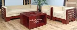 FARNBRO MAHOGANY WOODEN SOFA, For Home, Size: Contemporary