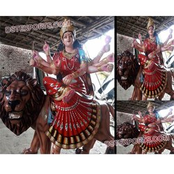 DST Exports Fiber Durga Mata Statue, Packaging Type: Tripple Layer