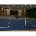 Synthetic Deco Turf Indoor Acrylic Synthetic Badminton Court Flooring Service