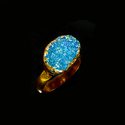 Adjustable Design Raw Gemstone Anniversary 18K Gold Plated Ring