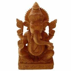 Wooden Paoti Ganesha Statue