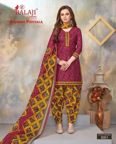 Balaji Cotton Patiyala Dress Material