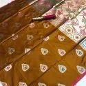 Banarasi Red Cotton Silk Saree