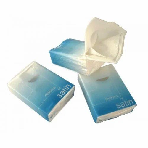 white plain pocket tissue paper rs 48 packet h n plastic id