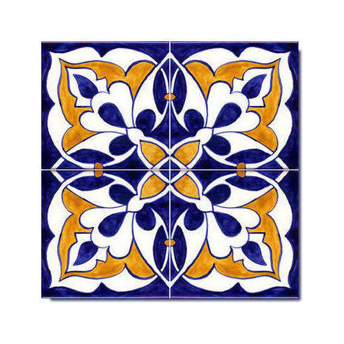 decorative moroccan painted il patio market green tiles decor and hand blue kitchen etsy