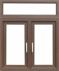 Walnut Color UPVC Windows