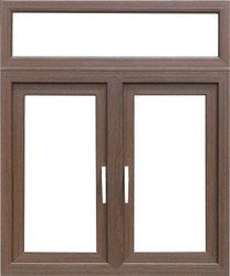 Dimex Horizontal Walnut Color UPVC Windows