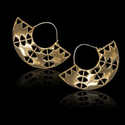 Small Brass Wedding Minimal Gold Plated Earring