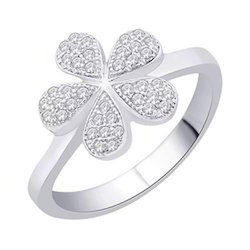 Flower Silver Finger Ring