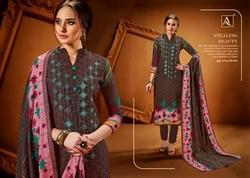 Pure Pashmina Digital Style Print With Exclusive Embroidery Suit, Occasion: Casual