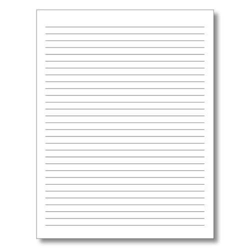 White Lined Notebook Paper, GSM: Less Than 80 And 200 ...