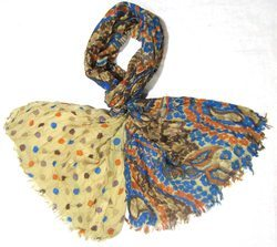Cotton Multi Colours Printed Scarves