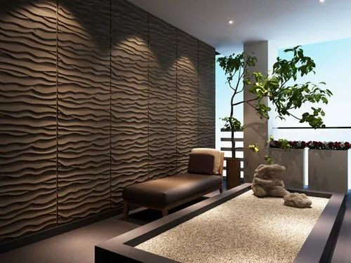 Wave Design Wall Panel, for Walls
