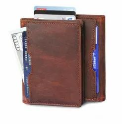 Leather Credit Card Holder-RFID Protected