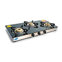 Double Drip Tray Gas Burner Stove, Packaging Type: Box