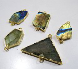 Labradorite Slice Connector