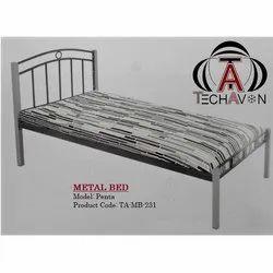 Tech Avon Powder Coated Metal Single Bed, Size: 6x3 Feet