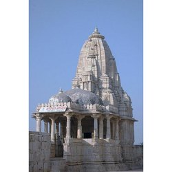 Matt White Marble Carved Temple for Worship