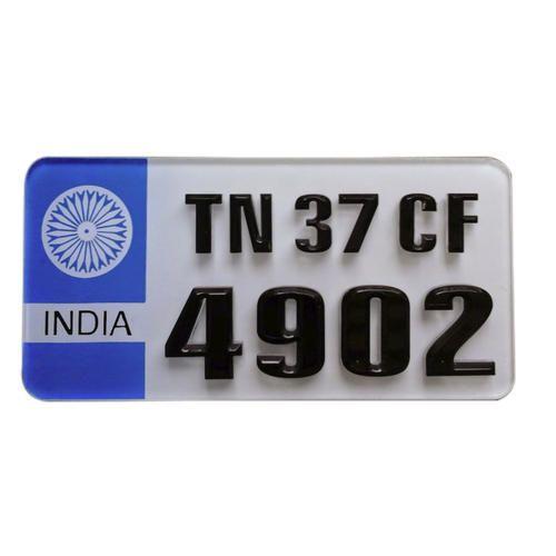 Car Number Plate Registration Cost