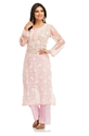 A114344 Hand Embroidery Casual Wear Faux Georgette Kurti