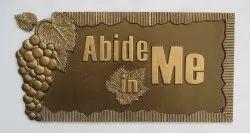 Copper name plate