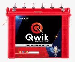 Qwik 100Ah Tall Tubular Inverter Battery, Voltage: 100 V
