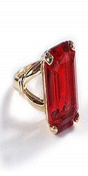 Ruby Ring Natural Manik Stone