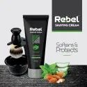 Third Party Cosmetic Rebel Shaving Cream Almond Oil, Aloevera & Peppermint Extracts