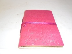 Pink Embossed Designer Handmade Leather Journal