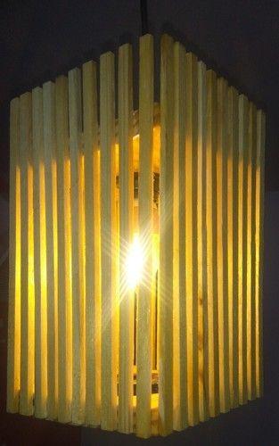 Instyle Decorindia And Instyledecorindia Pine Wood Square Hanging Light