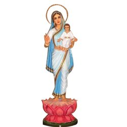 Wooden And Fiber Mother Mary Statues
