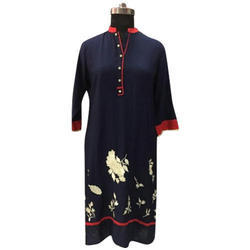 Womens 3/4 Cotton Kurti