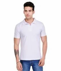 268f766566a5 Cotton Polo Neck White Mens Polo T Shirt, Size: M-XXL, Packaging