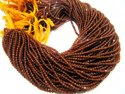Natural Hessonite Garnet Rondelle Faceted 3mm Beads