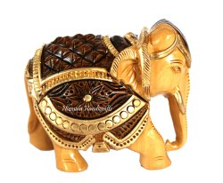 Wooden Carving Elephant Statue