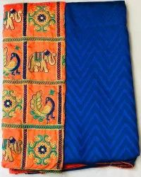 Sana Silk Sarees With Embroidery Blouse