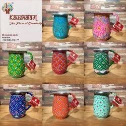 Kaushalam Metal Hand Painted Water Pitcher And Jugs