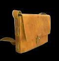 "Brown Open Designer Leather Messenger Bag, Size: 9"" X 7"" X 1.5"""